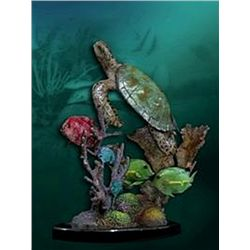Bronze Sculpture - Turtle Rock by J. Townsend