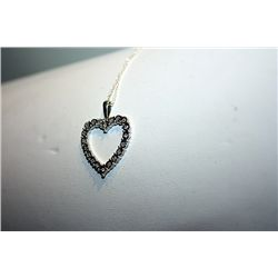 Lady's Fancy 14 kt White Gold Heart Shaped Diamond Pendant