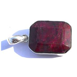 Natural 42.4 ctw Ruby .925 Sterling Pendant