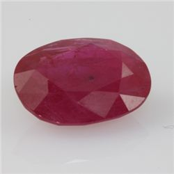 Natural Ruby Oval Cut 9x10mm 1 pc per lot 4.07ctw