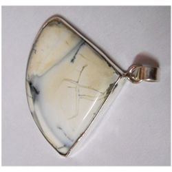 Natural Semi Precious Pear Cut .925 Sterling Pendant