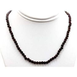 Garnet beads round 101.75 ctw Necklace