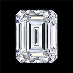 Diamond EGL Cert. ID:3105315018 Emerald 0.59 ctw D, Vs2
