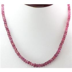 Natural Ruby Round  Beads Necklace 108.ctw. w/brass cla