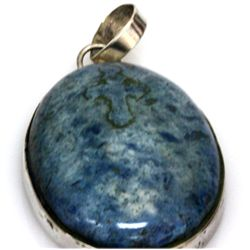 Natural 87.5 ctw Semi Precious .925 Sterling Pendant