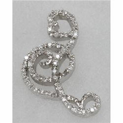 Natural 5.19g CZ Pendant .925 Sterling Silver