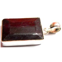 Natural 57.4 ctw Ruby .925 Sterling Pendant