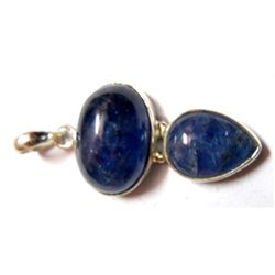 Natural 44..35 CTW. Tanzanite Oval .925 Sterling Pendan