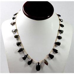 96.86 ctw Natural Smokie Quartz Bead Necklace