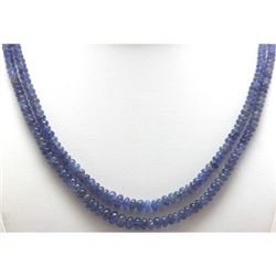 Natural Tanzanite Gradual Beads Necklace 129.75 ctw