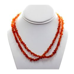 Natural Coroline Un-cut Beads Necklace