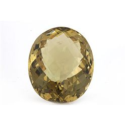Natural Lemon Topaz Oval Cut 15x20mm 1 pc 21.92 ctw