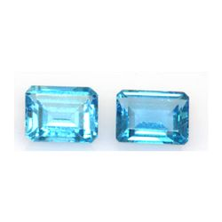 Natural Blue Topaz 8.23 ctw Emerald Cut