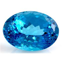 Natural Blue Topaz Oval Cut 14x17mm 1 pc/lot 45.37ctw