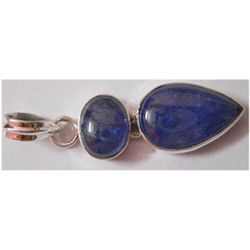 Natural 22.50 ctw Tanzanite Pendant 925 Sterling
