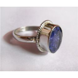 Natural 25.70 ctw Tanzanita Ring .925 Sterling