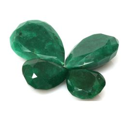 Natural 319.29ctw African Emerald Pear Shape (4) Stone