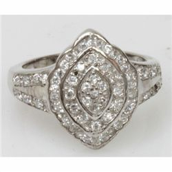 Natural 5.38g CZ Ring .925 Sterling Silver