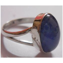 Natural 19.00 ctw Tanzanite Oval Ring 925 Sterling