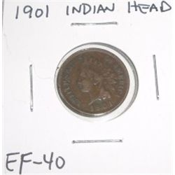1901 Indian Head Penny *EXTRA FINE-40 GRADE*!!