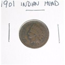 1901 Indian Head Penny *PLEASE LOOK AT PICTURE TO DETERMINE GRADE*!!