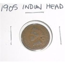 1905 Indian Head Penny *PLEASE LOOK AT PICTURE TO DETERMINE GRADE*!!
