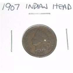 1907 Indian Head Penny *PLEASE LOOK AT PICTURE TO DETERMINE GRADE*!!