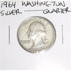 1964 SILVER Washington Quarter *PLEASE LOOK AT PICTURE TO DETERMINE GRADE*!!