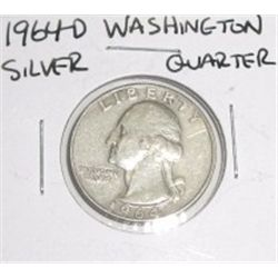 1964-D SILVER Washington Quarter *PLEASE LOOK AT PICTURE TO DETERMINE GRADE*!!