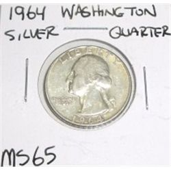 1964 SILVER Washington Quarter *RARE MS-65 HIGH GRADE*!!