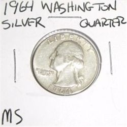 1964 SILVER Washington Quarter *RARE MS HIGH GRADE*!!