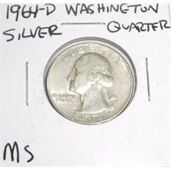 1964-D SILVER Washington Quarter *RARE MS HIGH GRADE*!!