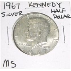 1967 SILVER Kennedy Half Dollar *RARE MS HIGH GRADE*!!