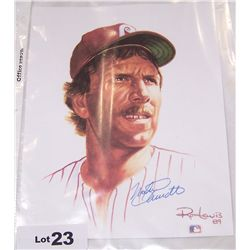 Mike Schmidt Signed 8x10 Photograph.