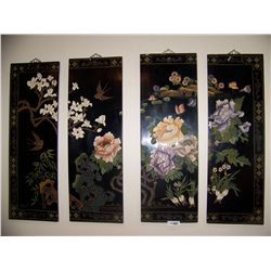 Four Panel Chinese Wall Art