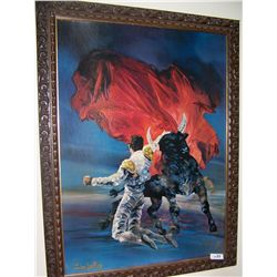 Vintage Bullfight Scene by John DeKay.