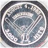 Image 2 : .999 1 OZ  SILVER ROD CAREW COMMEMORATIVE COIN.