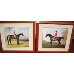 Pair of Nicely Framed Equestrian Fine Art Prints.
