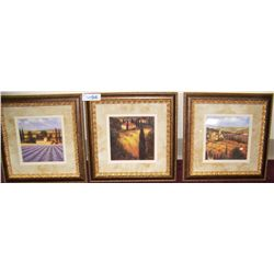 Three J. Wiens Fine Art Prints, Nicely Framed.