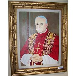Portrait of POPE JOHN PAUL Oil on Canvas.