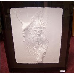 """""""Indian With Eagle"""" by Carlo Wahlbeck. Signed."""