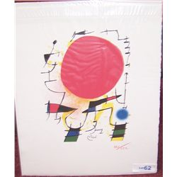 Joan Miro Plate-Signed Lithograph.