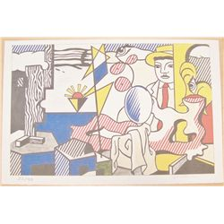 Lichtenstein Ltd. Ed. Unframed Lithograph.