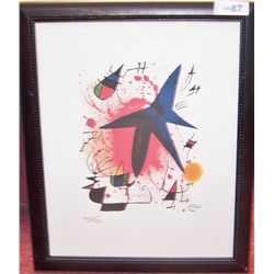 Joan Miro Ltd. Ed. Plate-Signed Lithograph.