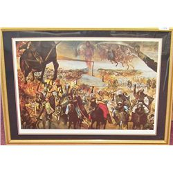 "Salvador Dali "" Battle of Tetuan""  # 48/250 Framed Lithograph."