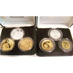 (2x$) VATICAN SETS INCLUDING .999 SILVER.