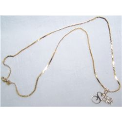 14K YELLOW GOLD NECKLACE & PENDANT WEIGHING 2.8 GRAMS