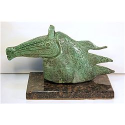 Braque  Original, limited Edition  Bronze -Steed