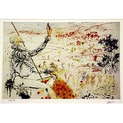 Salvador Dali Signed Limited Edition -  Illustration for don Quixote II