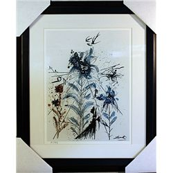 Salvador Dali Signed Limited Edition - Flower Magician